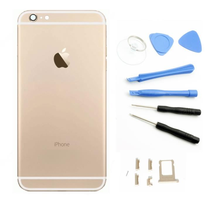 chassis coque arriere or logo pour iphone 6 4 7 a