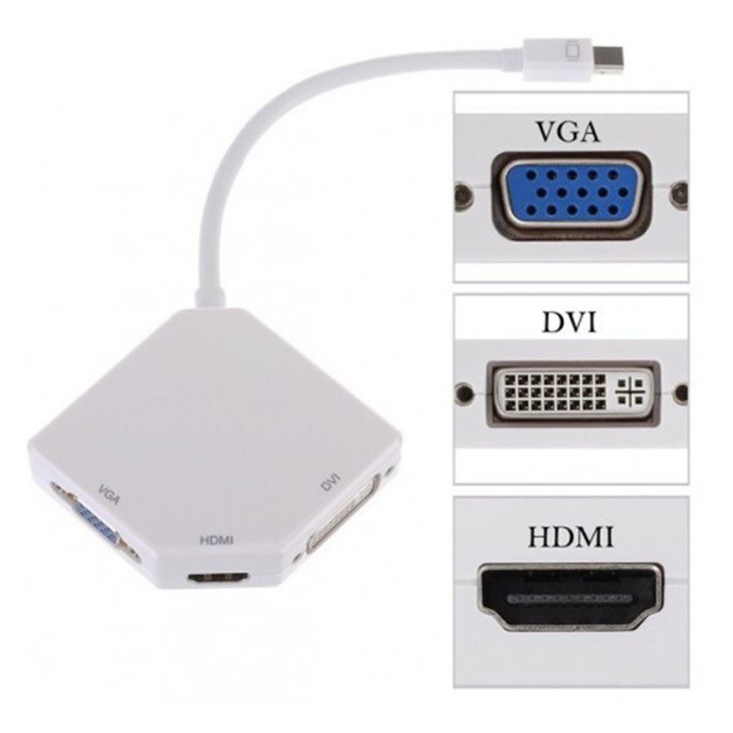 Kit 3 en 1 Mini Display vers HDMI VGA DVI