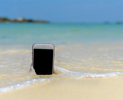 Téléphone tombé dans l'eau