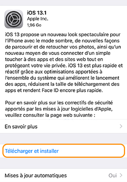 telecharger-et-installer ios 13