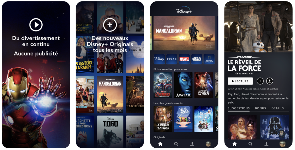 image application Disney+