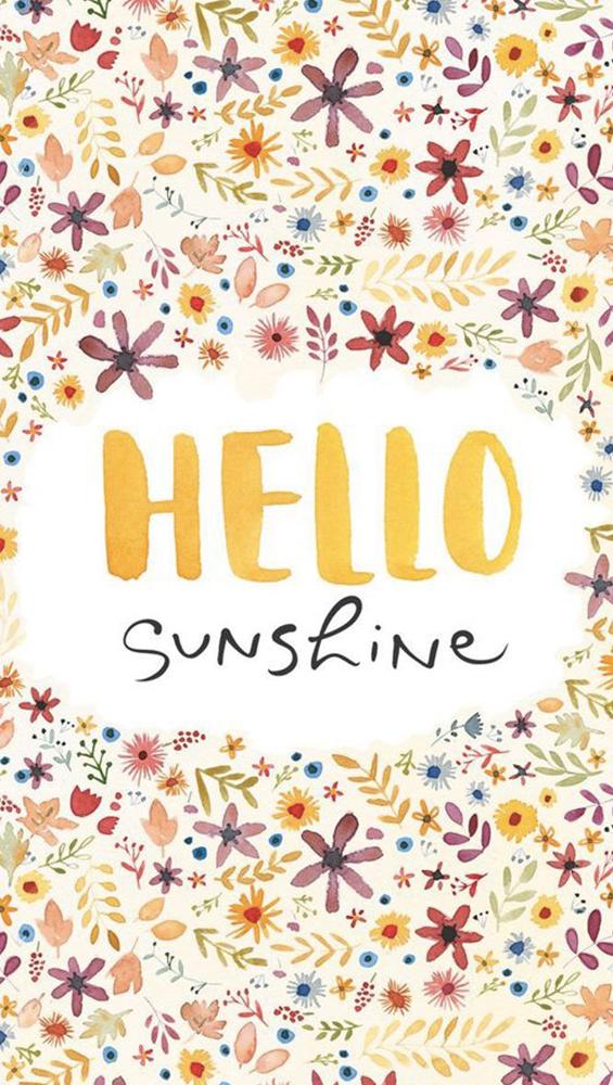 Fond d'écran iPhone Hello Sunshine