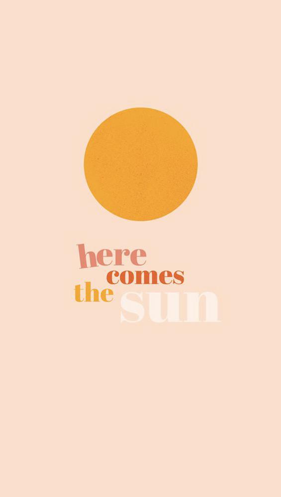 Fond d'écran iPhone Here comes the sun