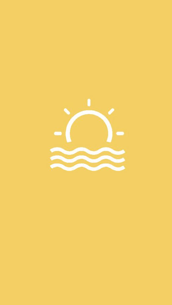 Fond d'écran iPhone soleil graphique