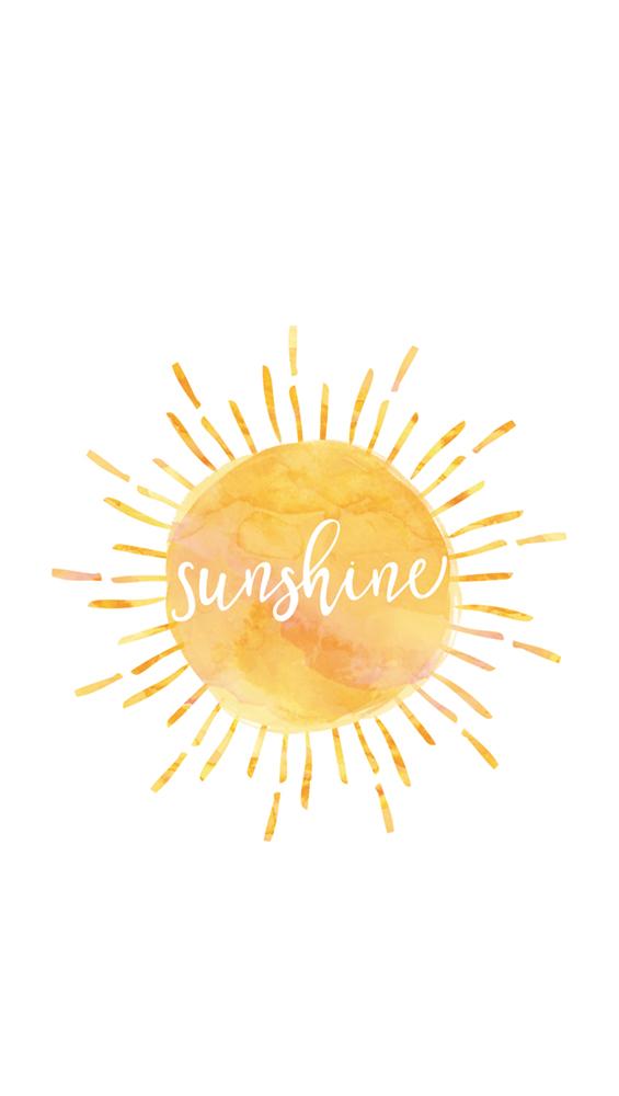 Fond d'écran iPhone sunshine