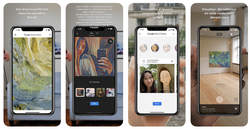 image application google arts et culture