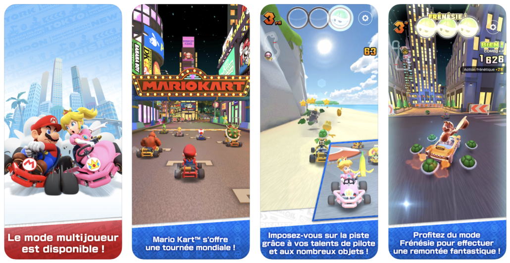 image application Mario Kart Tour