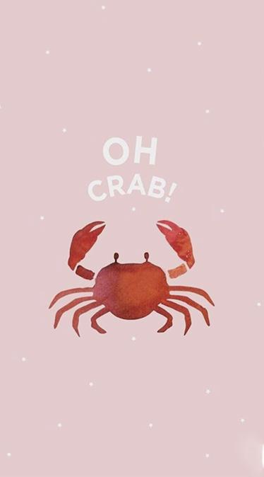 Fond d'écran été crabe