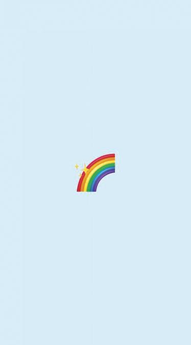Fond d'écran emoji arc-en-ciel