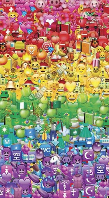 Fond d'écran emoji dégradé