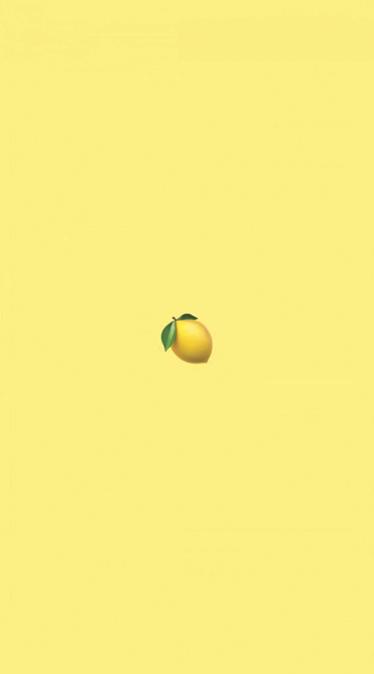 Fond d'écran emoji citron