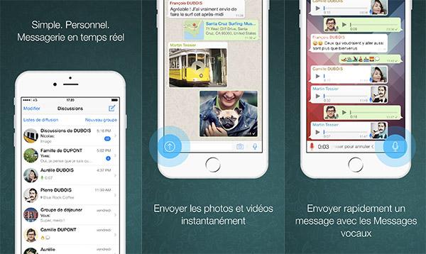 Article WhatsApp vs Signal / interface whatsapp